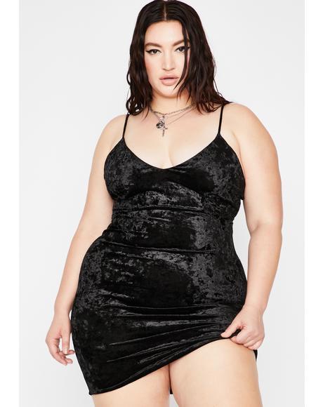 Your Night Seduction Velvet Dress