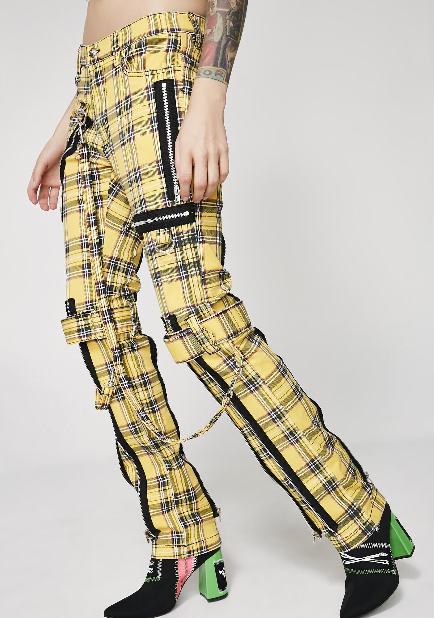 Tripp NYC Plaid Bondage Pants