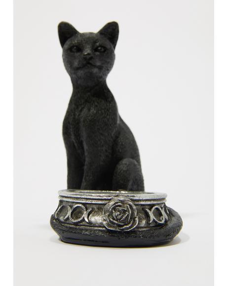 Black Cat Tea Light
