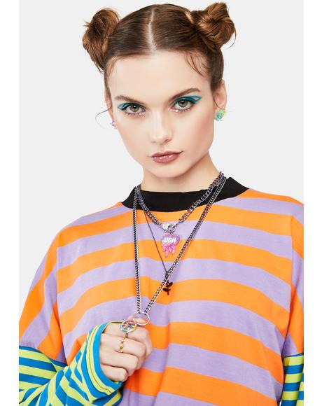 Ugh Mood Layered Chain Necklace