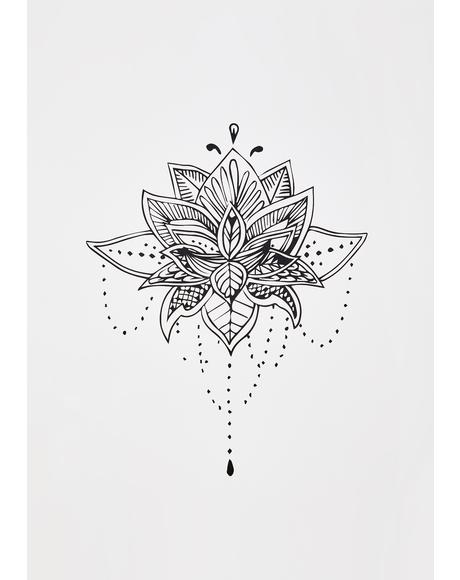 Blossom Floral Temporary Tattoo