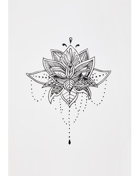 Blossom Floral Temporary Tattoo