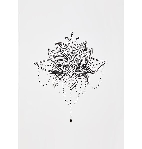 Neva Nude Blossom Floral Temporary Tattoo