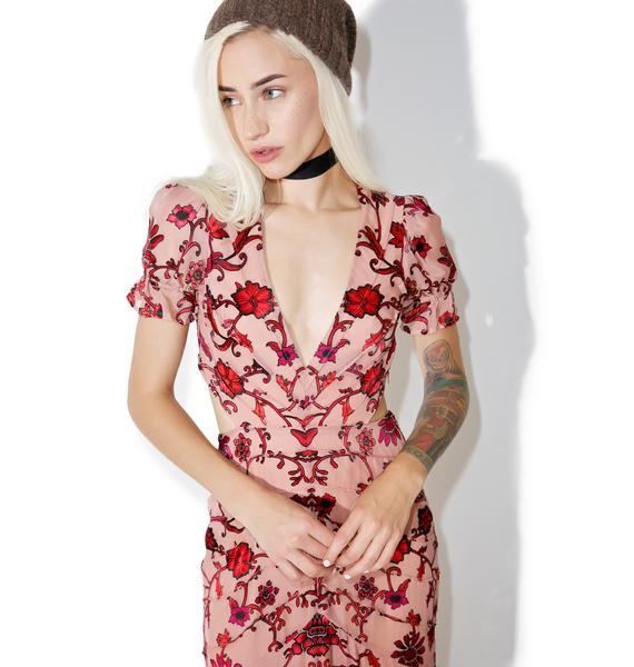 For Love & Lemons Saffron Maxi Dress