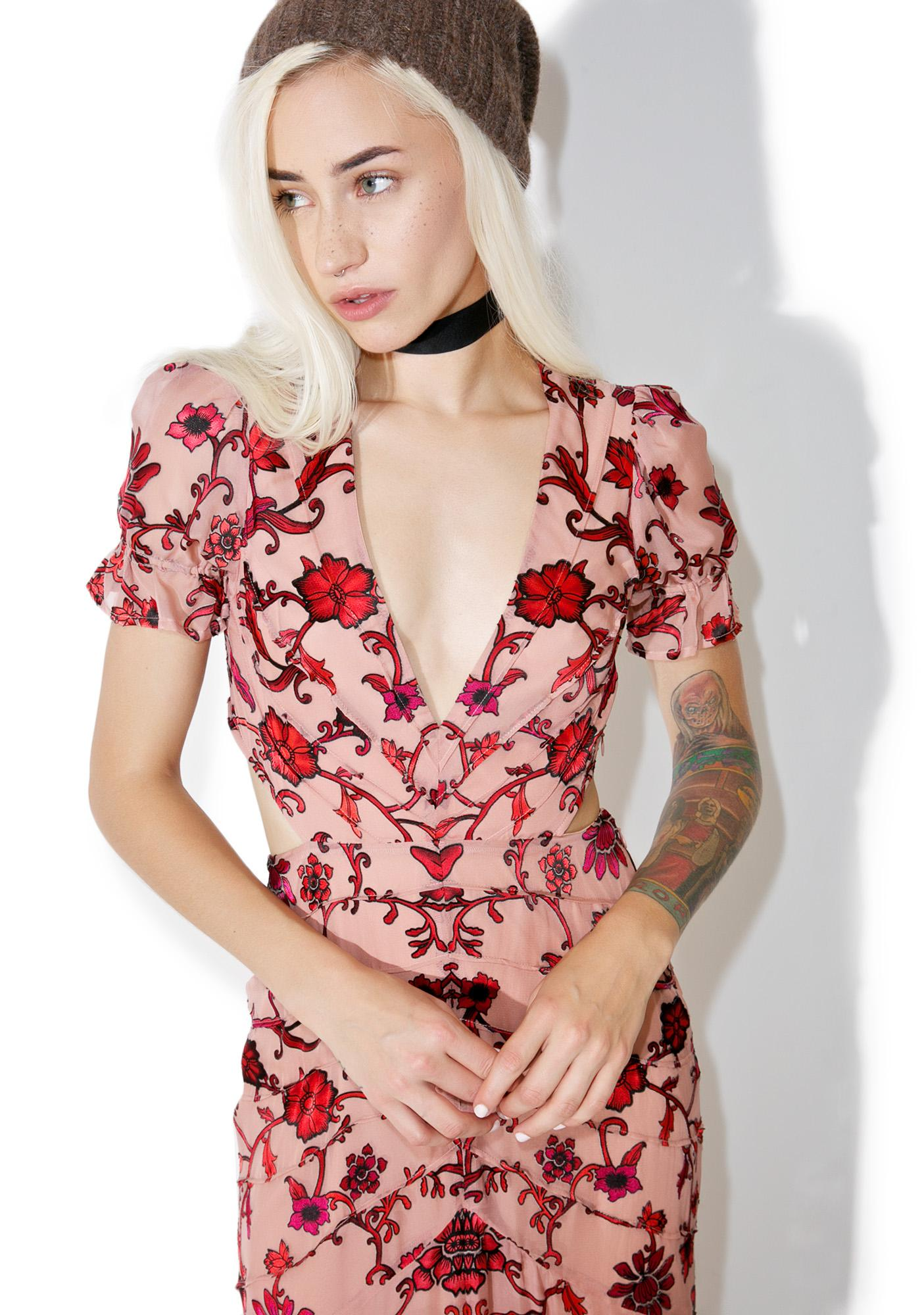 For Love & Lemons Saffron Maxi Dress