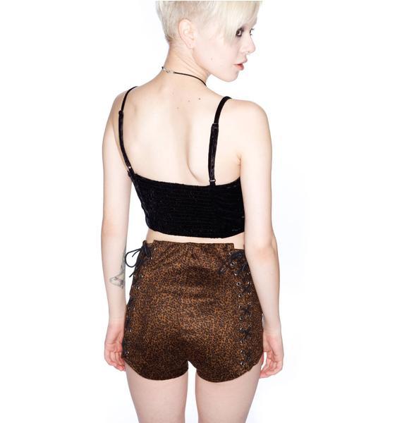 UNIF Lace Up Shorts