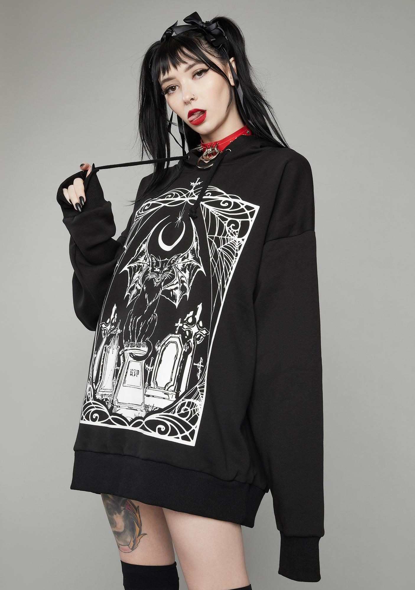 Dolls Kill Living Dead Graphic Hoodie