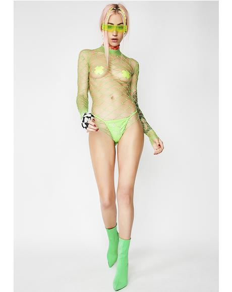 Slime The Damned Fishnet Bodysuit