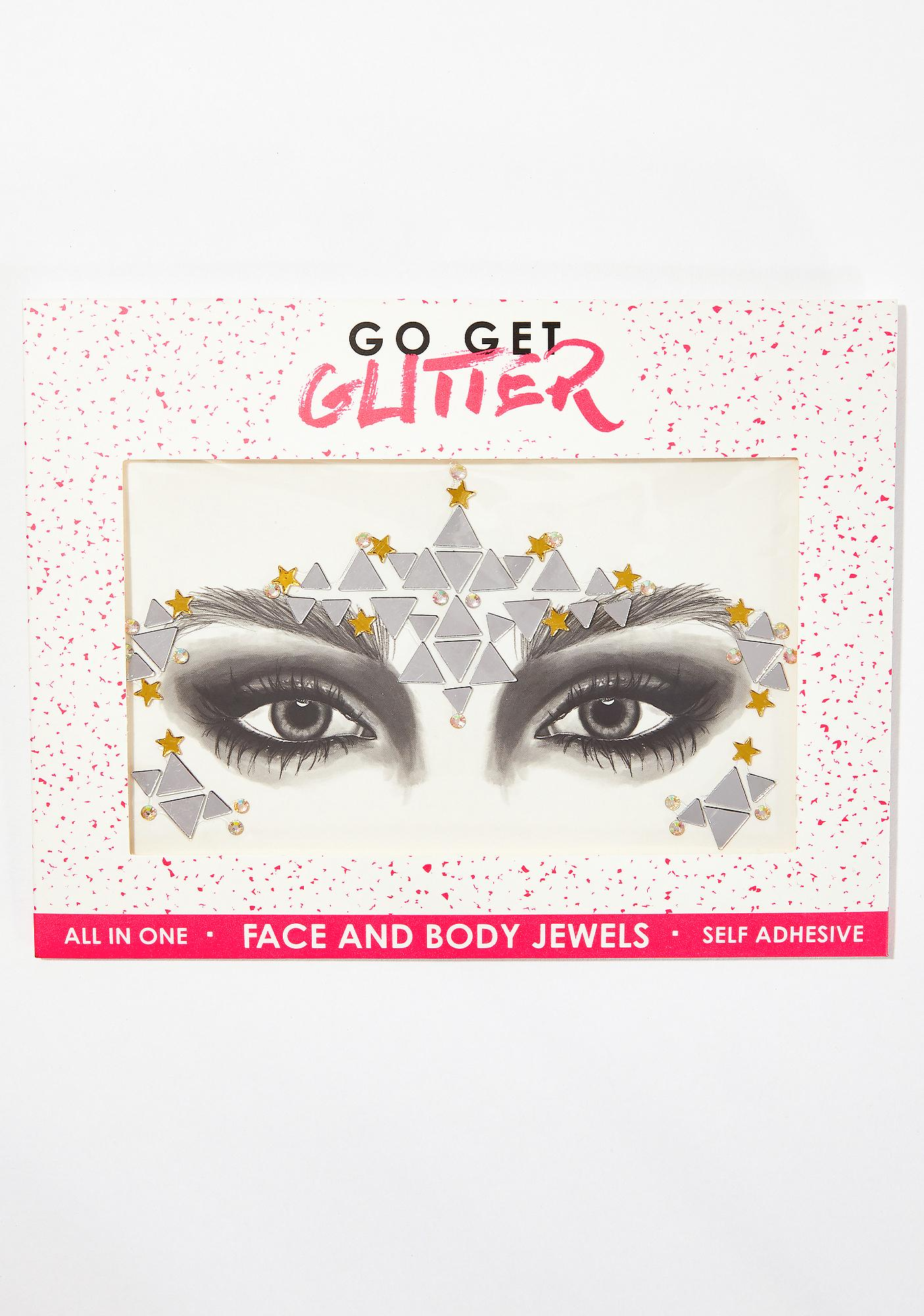 Go Get Glitter Mirror Maze Face Jewels