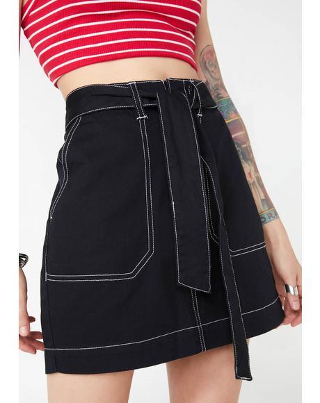 Dark Utility Skirt