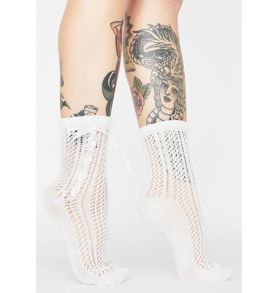 Ghost Next Door Knit Socks