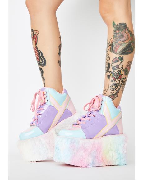 Qozmo Kandi Pastel Platform Sneakers