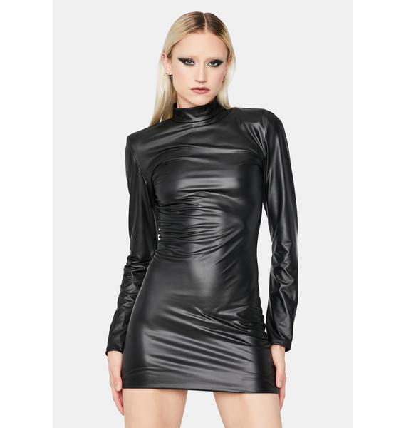 Your Intentions Vinyl Mini Dress