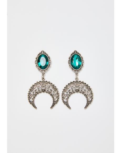 Moonlight Aura Emerald Earrings