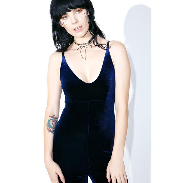 American Deadstock Navy Smooth Operator Jumpsuit