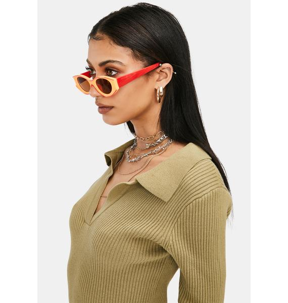 Sunset Funk With My Heart Retro Sunglasses