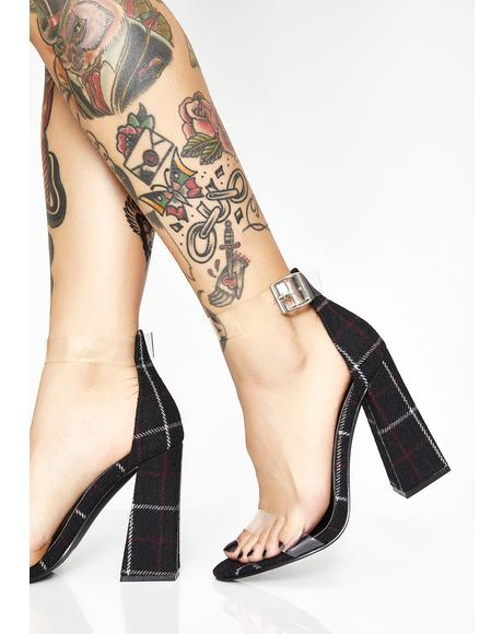 Like Whatever Loser Plaid Heels