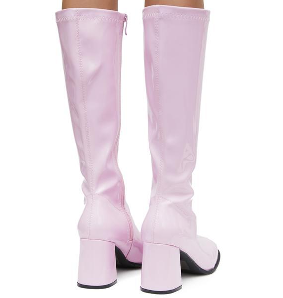 Blush Go-Go Baby Boots