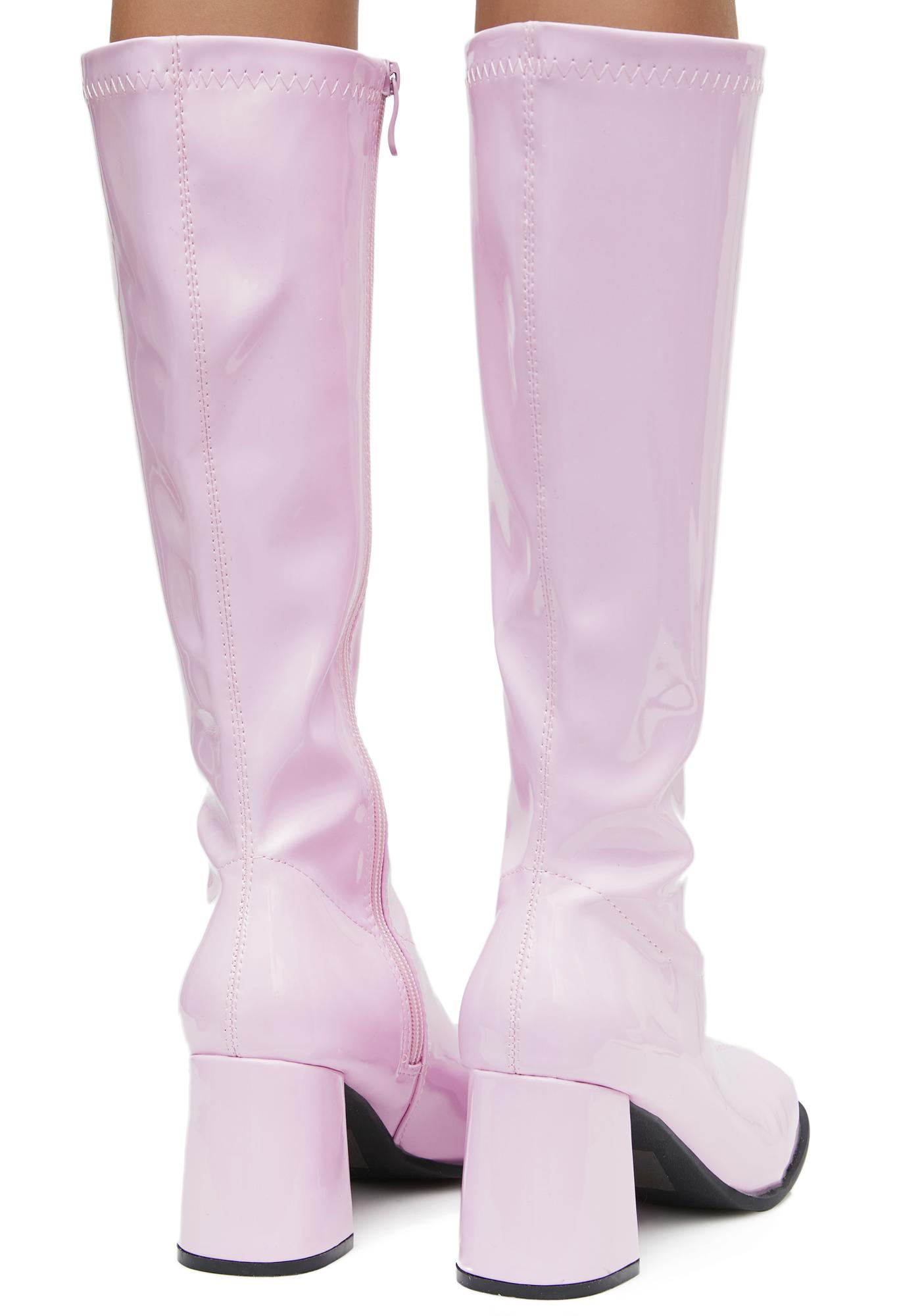 Pink Go Go Boots | Dolls Kill