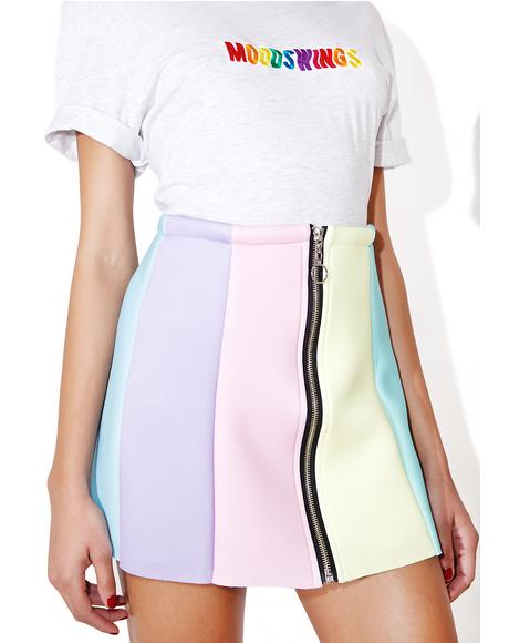 Rainbow Neoprene Skirt