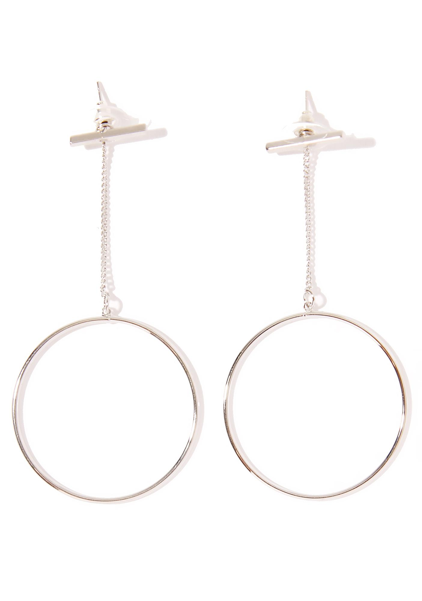 Winner's Circle Silver Dangle Earrings