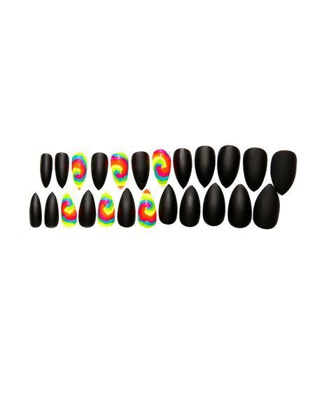 Matte & Tie Dye Nail Set