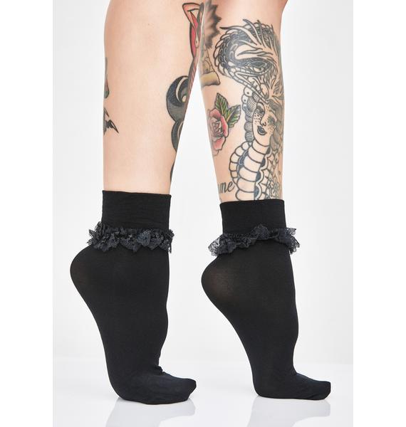 Night Ruffle Me Up Crew Socks