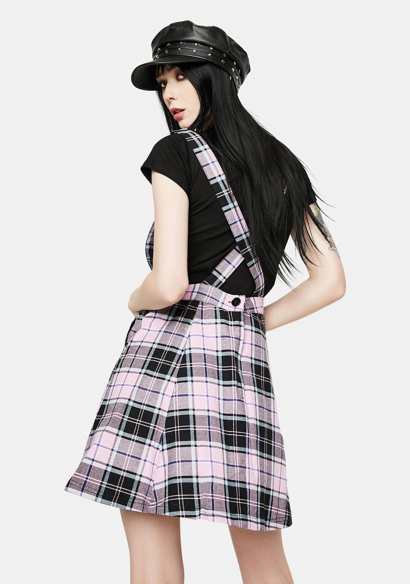 Black Friday Lindsay Plaid Pinafore Dress