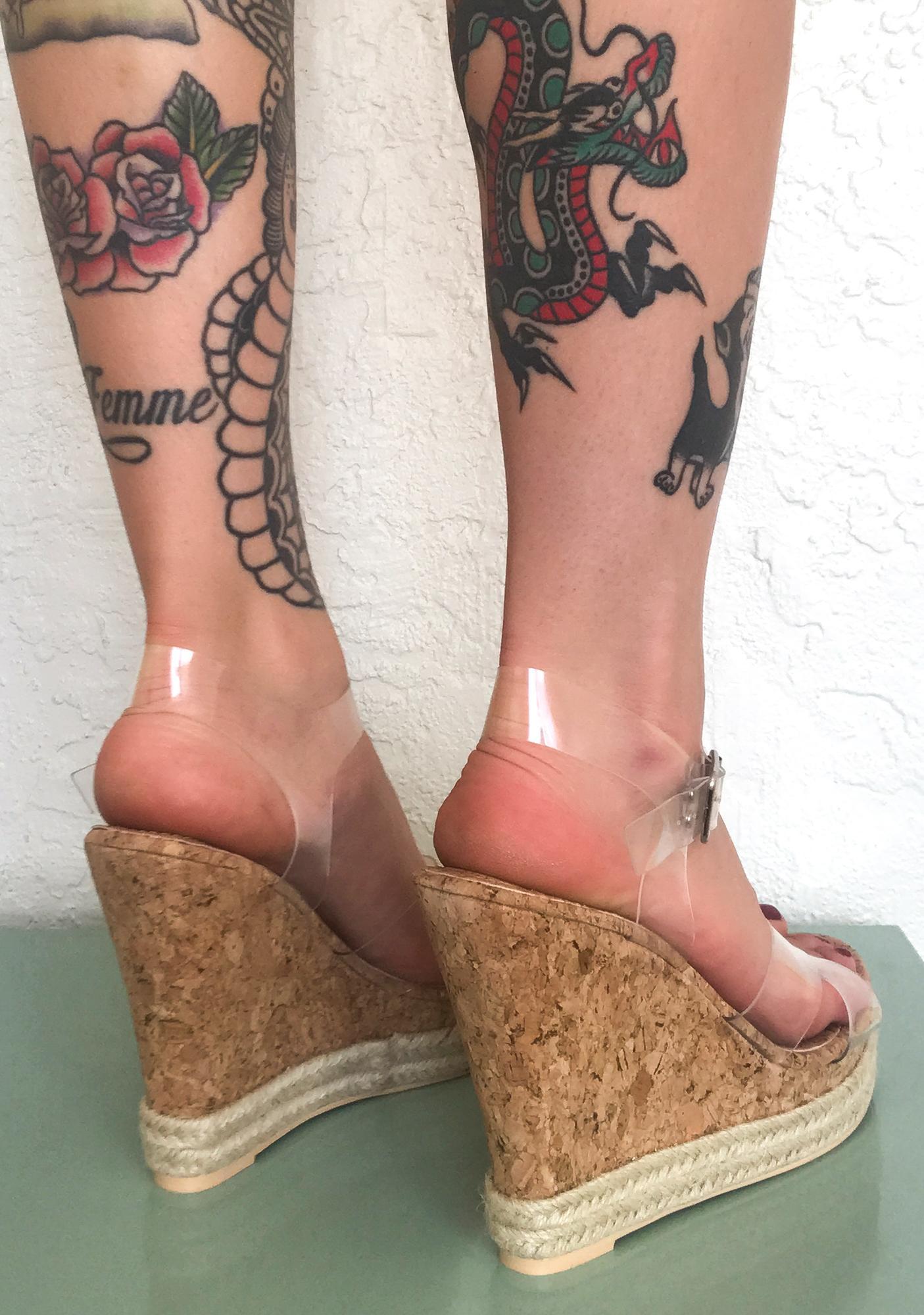 Wild Beach Wedge Heels