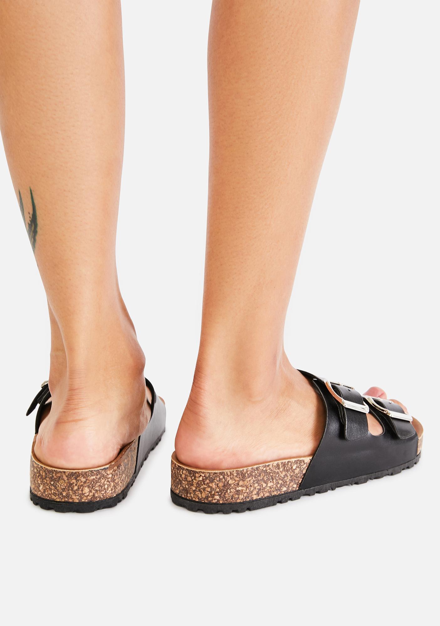 Night Sandy Paradise Buckle Sandals