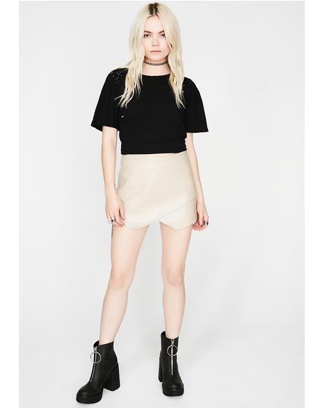 All Moody Asymmetrical Skort
