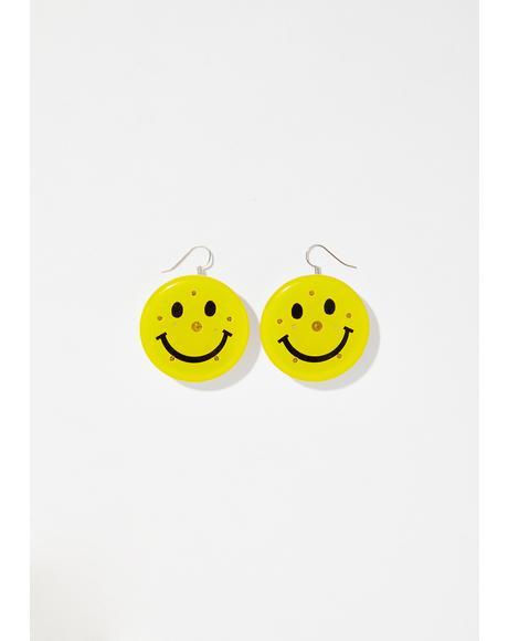 Off Beam Smiley Earrings