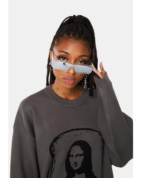 Chrome You're Priceless Oval Sunglasses