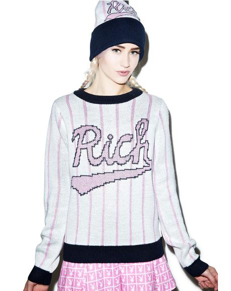 Baseball Field Knit Crewneck