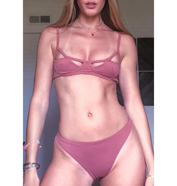 Siempre Golden Gemini Thong Bikini Bottoms