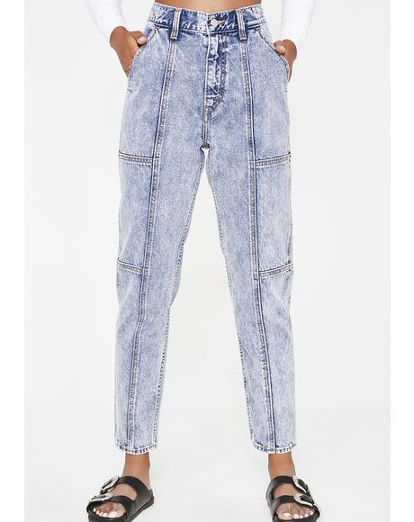Utility Mom Jeans