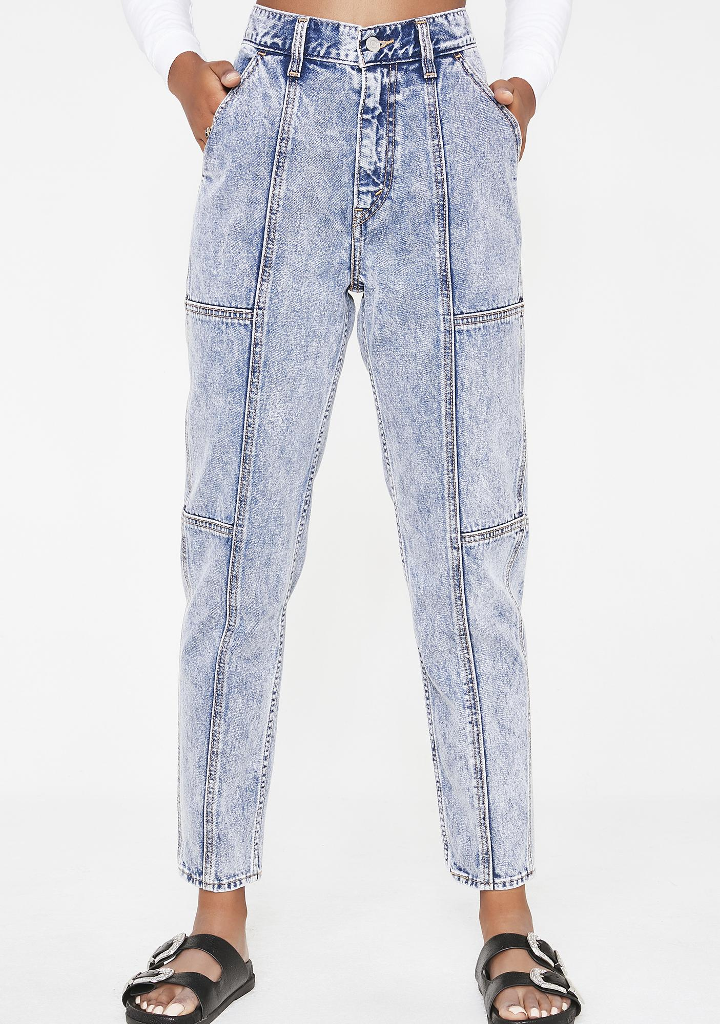 Utility Mom Jeans