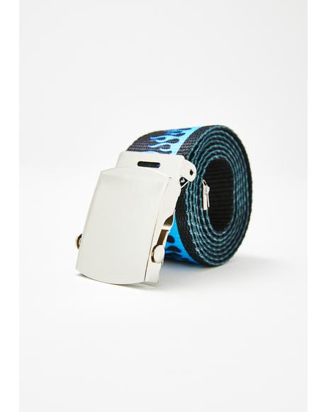 Cobalt Flaming Bish Canvas Belt