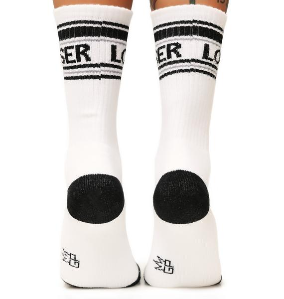 Gumball Poodle Loser Athletic Crew Socks