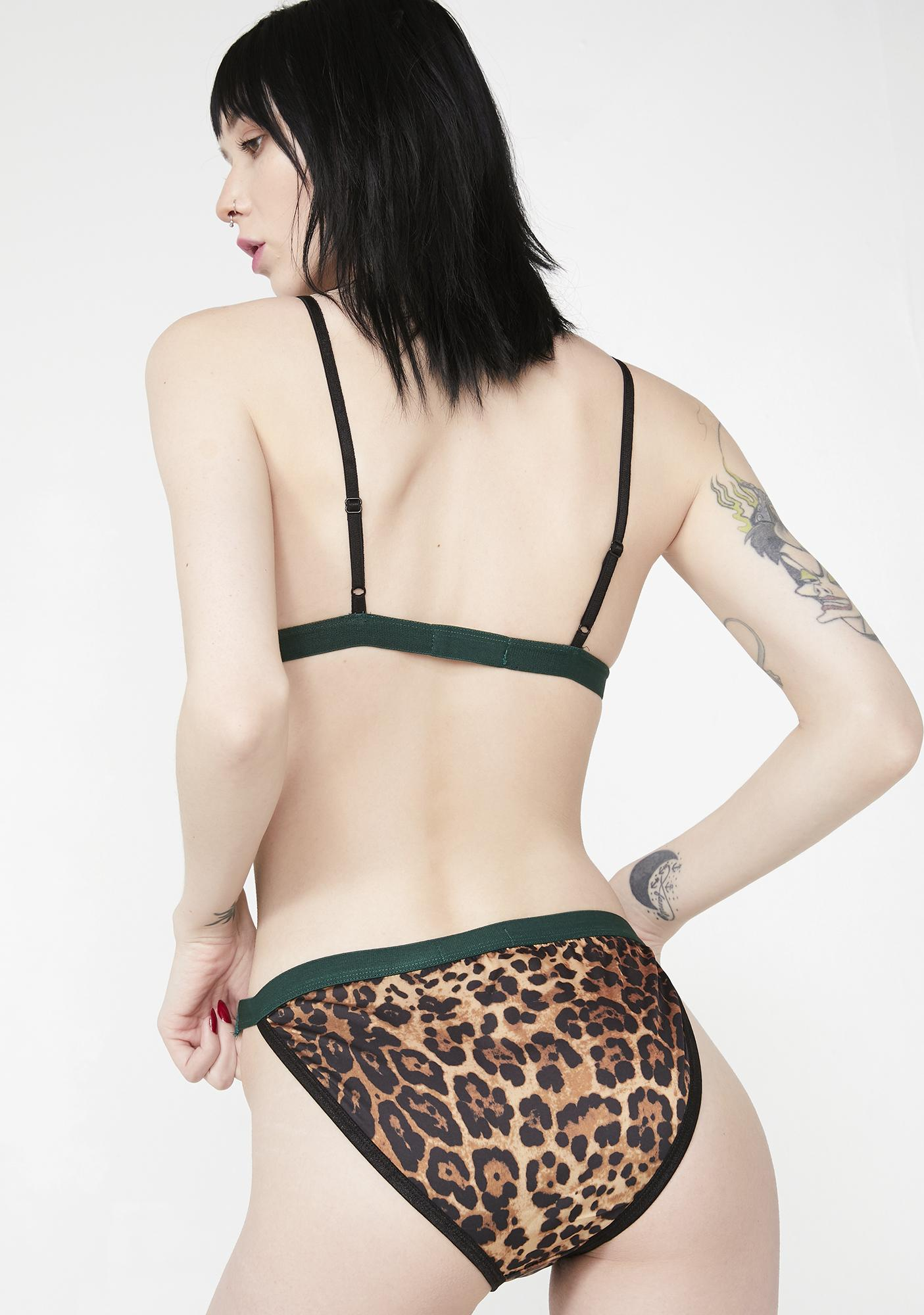 NGHTBRD Leopard Black Tapes Panty