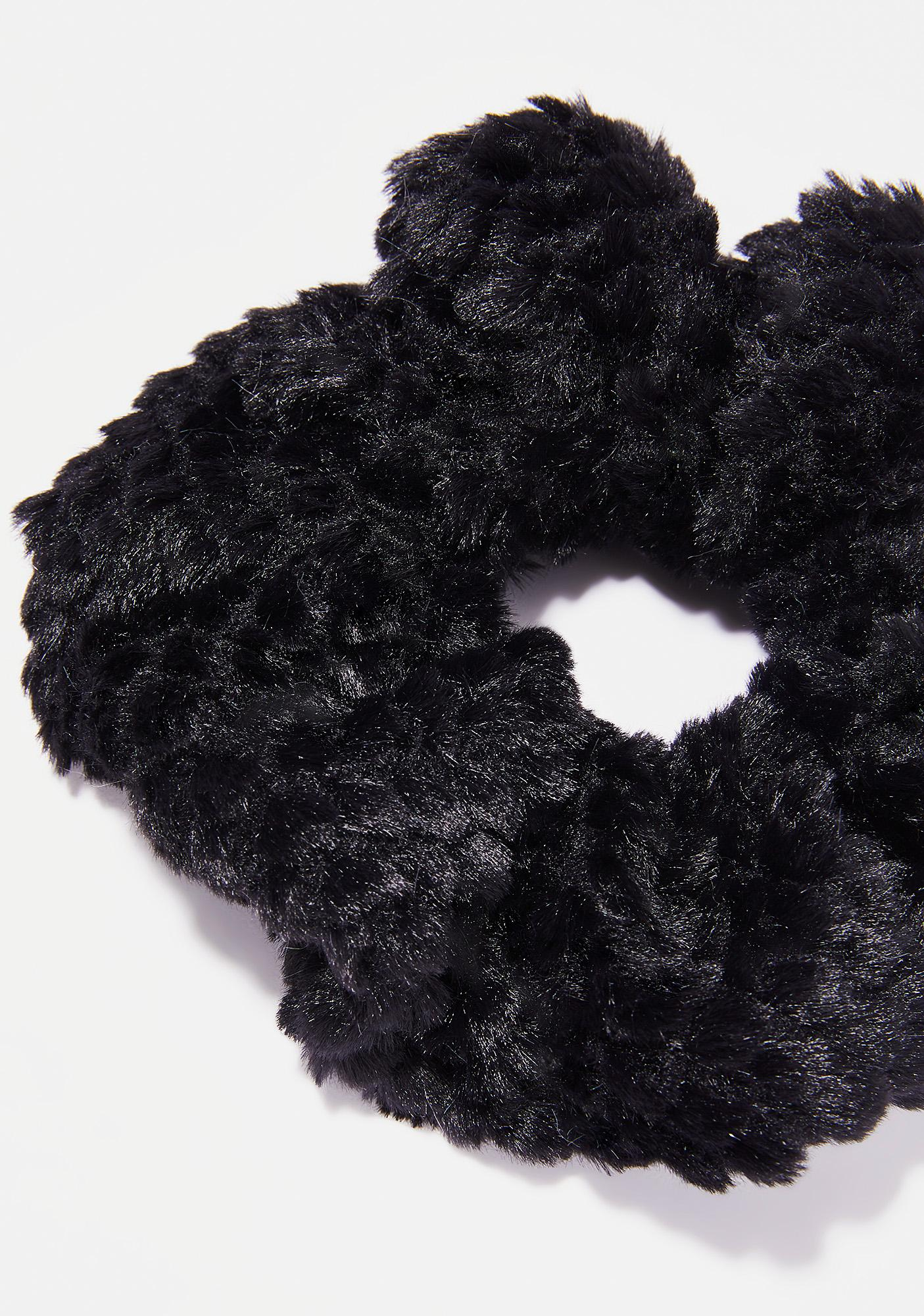 Dark Snow Fluff Scrunchie