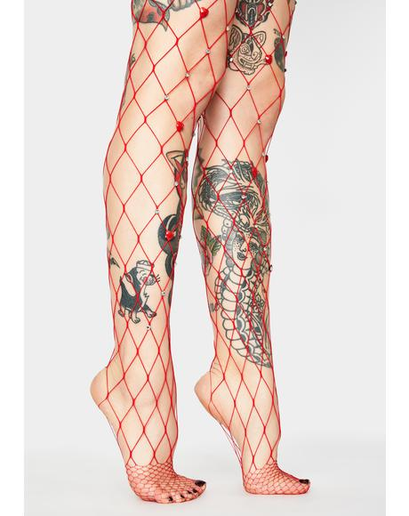 Demonic Diva Fishnet Tights
