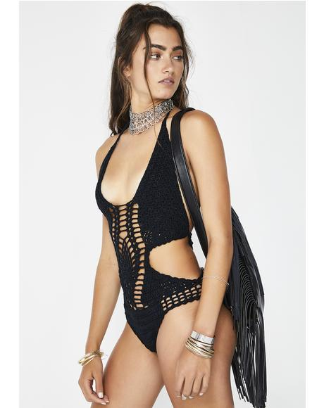 Dark Foxy Lady Crochet One Piece