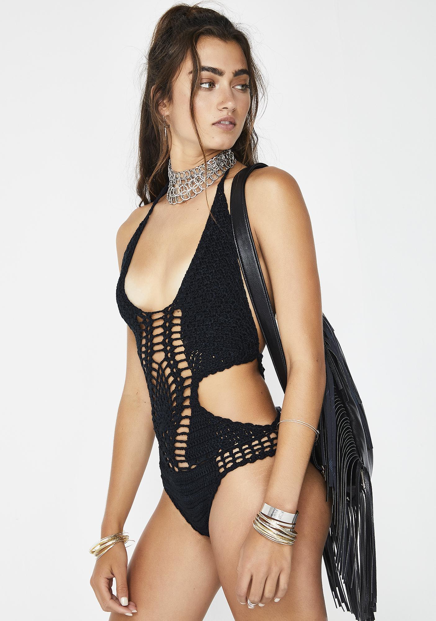 Dark Foxy Lady Crochet One Piece