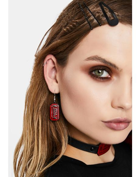 Ticket To Hell Drop Earrings