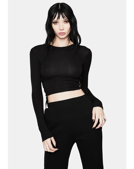 Wicked Don't Deserve U Lace Up Crop Top