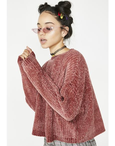 Rose Quartz Knit Sweater