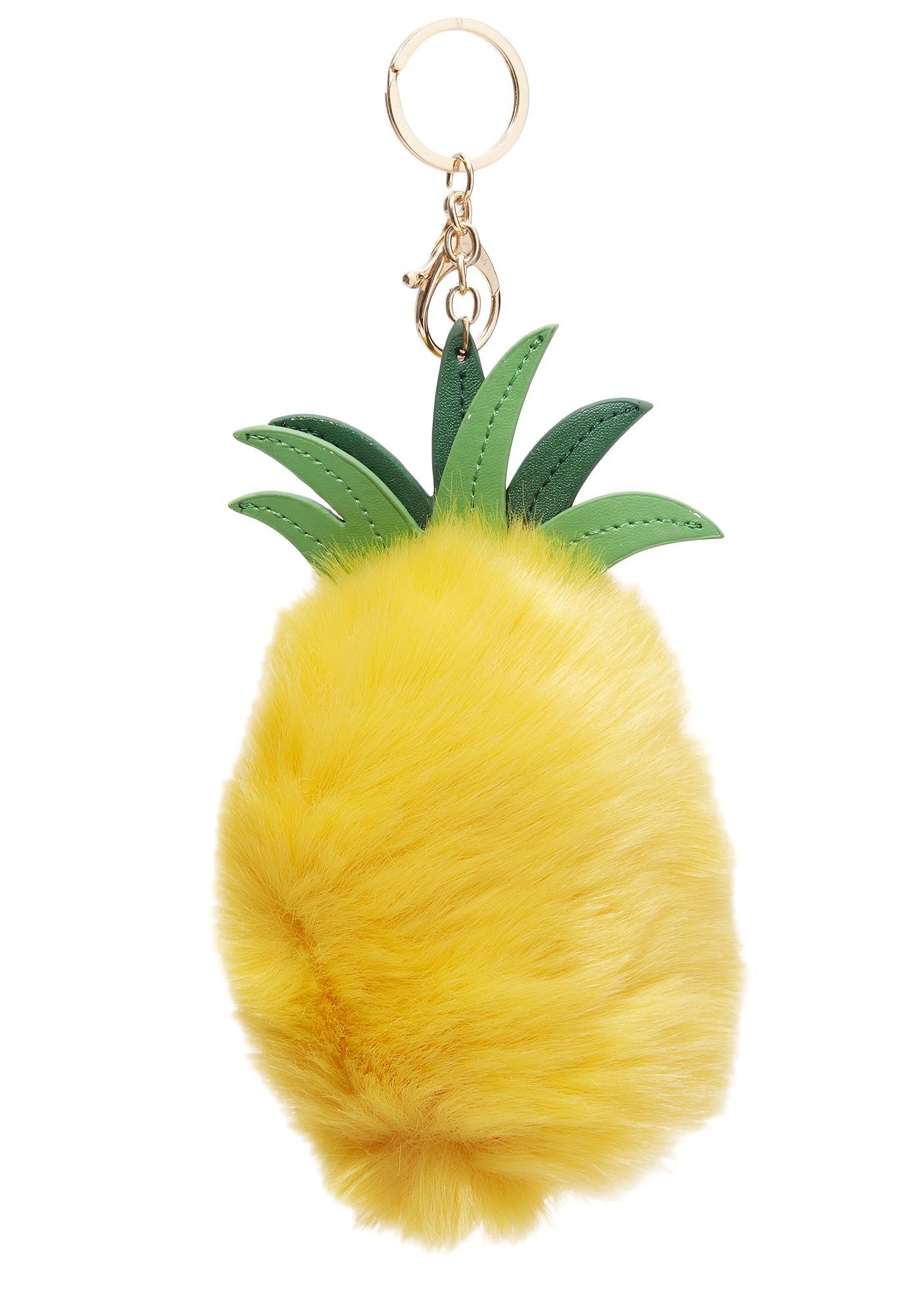 Furry Pineapple Keychain
