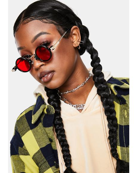Vamp Retro Class Circle Sunglasses