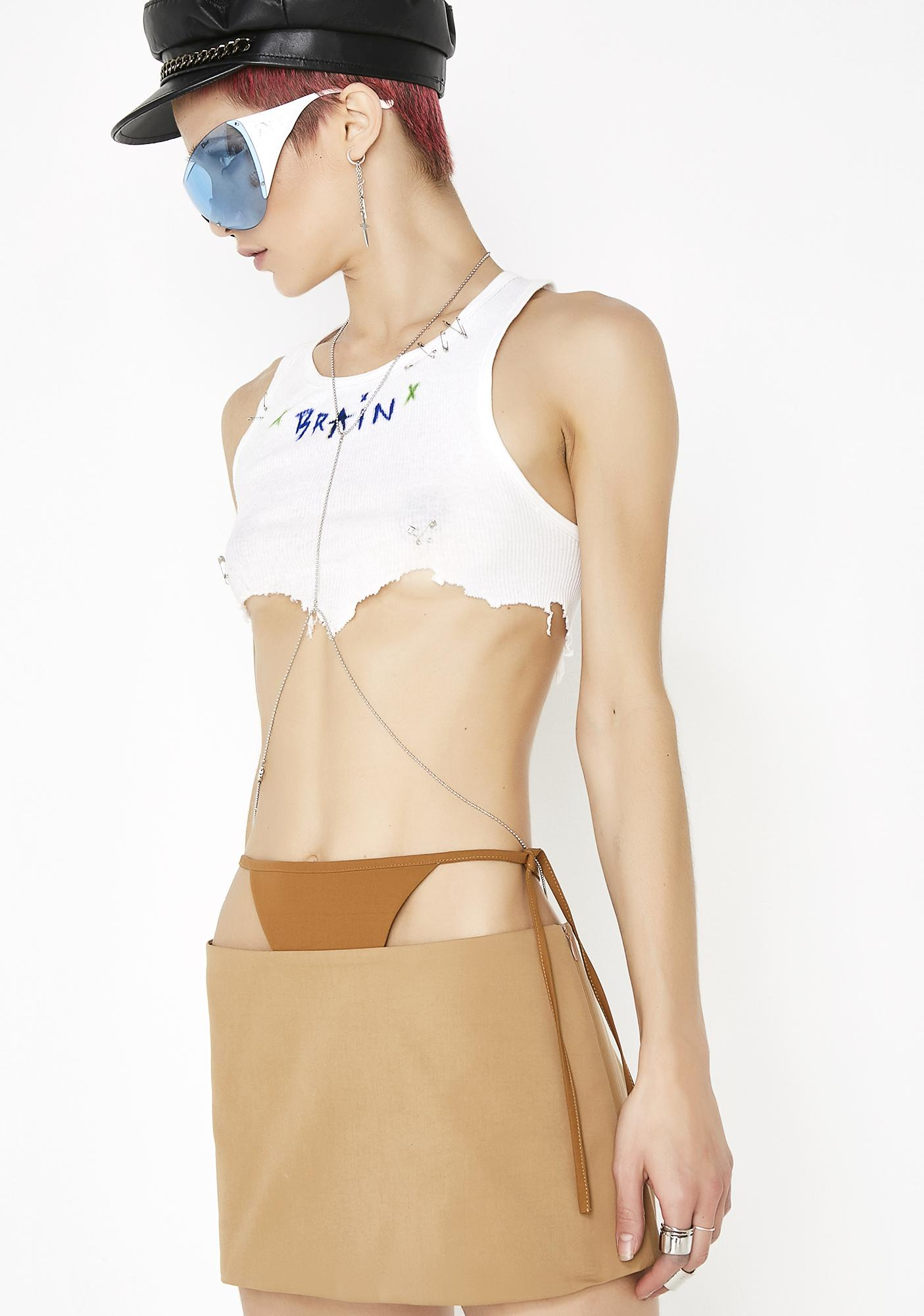 Maria ke Fisherman T Detail Mini Skirt